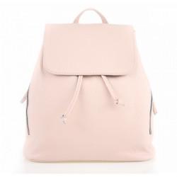 Dámsky kožený batoh 420 Made in italy ružový, Ružová