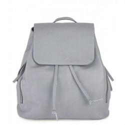 Dámsky kožený batoh 420 šedý Made in italy, Šedá