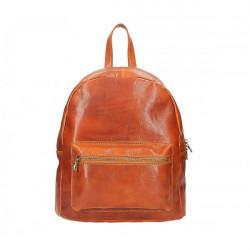 Dámsky kožený batoh 5340 koňakový Made in Italy, Koňak