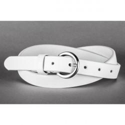 Dámsky kožený opasok 950 biely Lisa Romeo, Biela, 105/120 cm