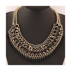 Dámsky náhrdelník 477 čierny, Čierna
