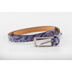 Dámsky opasok 82 fialový Made in Italy, 100/115 cm, Fialová
