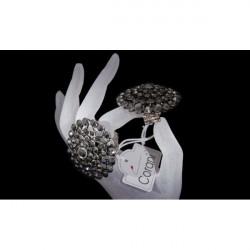 Dámsky prsteň  409 tmavošedý CORANI, Uni, Šedá