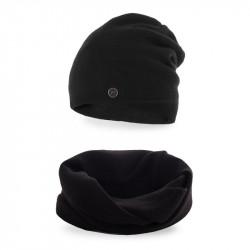 Dámsky set čiapka + nakrčník 77 čierny, čierna