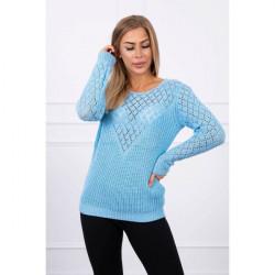 Dámsky sveter MI2019-39 modrý Univerzálna Modrá