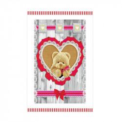 Dekoračná bavlnená utierka 400 Medvedík v srdiečku
