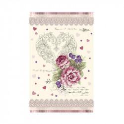 Dekoračná bavlnená utierka 400 Ruže