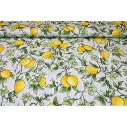 Dekoračná látka Bavlna citróny Žltá