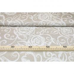 Dekoračná látka biele povinky, šírka 140 cm Biela #1