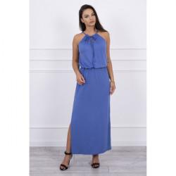 Dlhé šaty s rozparkom MI8893 jeans, Uni, Jeans