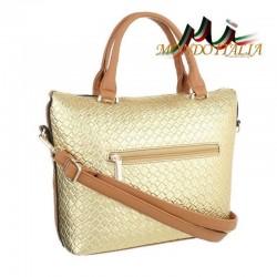 Elegantná dámska kabelka 418A zlatá  418A #1