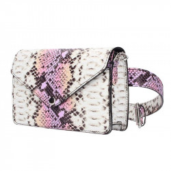 Fialová kožená kabelka na rameno/na opasok MADE IN ITALY, Farba fialová MADE IN ITALY 5303