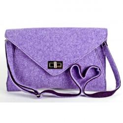 Filcová kabelka 806 fialová, Fialová