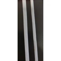 Guma prádlová biela, šírka 5 mm Biela