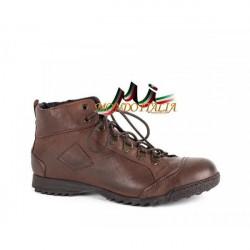 Hnedé kožené topánky 553 Easy Going, Hnedá, 44
