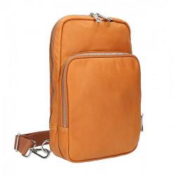 Kean Kožený batoh na rameno koňak Made in Italy, Koňak