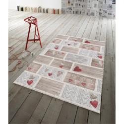 Koberec Shabby in love červený, Červená, 60 x 110 cm
