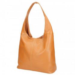 Koňaková kožená kabelka na rameno 590, Koňak