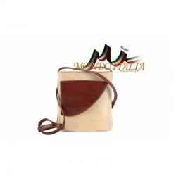 Kožená crossbody kabelka 20 béžová MADE IN ITALY 20