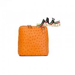 KOŽENÁ CROSSBODY KABELKA  603B oranžová MADE IN ITALY 603B