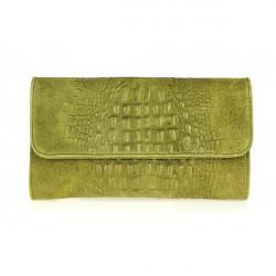 Kožená kabelka 1251 Made in Italy olivovo zelená, Zelená