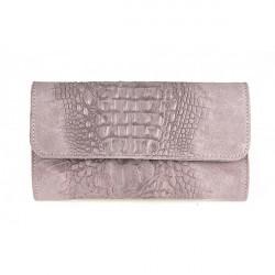 Kožená kabelka 1251 Made in Italy ružová, Ružová