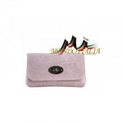 Kožená kabelka 1423 ružová MADE IN ITALY 1423