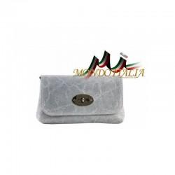 Kožená kabelka 1423 šedá MADE IN ITALY 1423