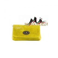 db9f0b9748 Kožená kabelka 1423 žltá MADE IN ITALY 1423