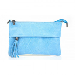 Kožená kabelka 1423A nebesky modrá, Nebesky modrá