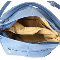 Kožená kabelka 168 vojenska zelená Made in Italy Zelená #1