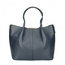 Kožená kabelka 372 tmavomodrá Made in Italy Modrá