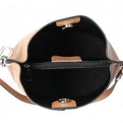 Kožená kabelka 401 Made in Italy čierna Čierna #1