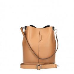 Kožená kabelka 401 Made in Italy čierna Čierna #3