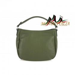 KOŽENÁ KABELKA 498 zelená, Farba zelená
