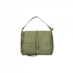 Kožená kabelka 5076 vojensky zelená MADE IN ITALY, zelená