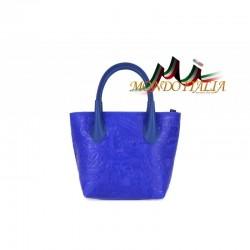 Kožená kabelka 662 azurovo modrá MADE IN ITALY