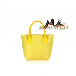 Kožená kabelka 662 žltá MADE IN ITALY