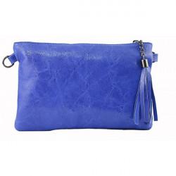 Kožená kabelka 750 azurovo modrá, Modrá