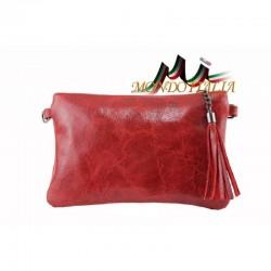 Kožená kabelka 750 červená MADE IN ITALY 750