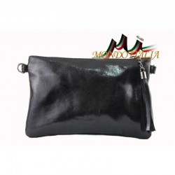 Kožená kabelka 750 čierna MADE IN ITALY 750