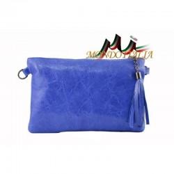 Kožená kabelka 750 modrá MADE IN ITALY 750