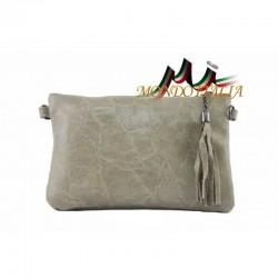 Kožená kabelka 750 šedohnedá MADE IN ITALY 750