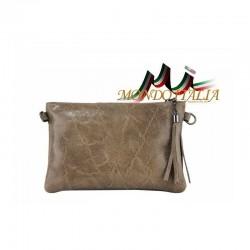 Kožená kabelka 750 tmavošedohnedá MADE IN ITALY 750