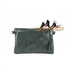 Kožená kabelka 750 zelená MADE IN ITALY 750