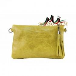 Kožená kabelka 750 žltá MADE IN ITALY 750