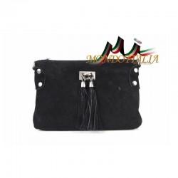 Kožená kabelka 812 čierna MADE IN ITALY 812
