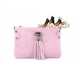 Kožená kabelka 812 ružová MADE IN ITALY 812
