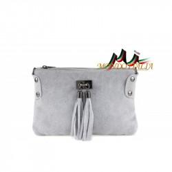Kožená kabelka 812 šedá MADE IN ITALY