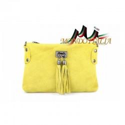 Kožená kabelka 812 žltá MADE IN ITALY 812